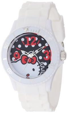 Hello Kitty Women's H3WL1045WT White Plastic Case and Bracelet Bold Polka Dot Dial Watch Hello Kitty, MEN'S AND WOMEN'S WATCHES to buy just click on amazon right here http://www.amazon.com/dp/B00A3M2A1W/ref=cm_sw_r_pi_dp_ch8Jsb1YMWKV7NCR