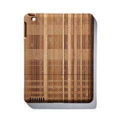 bamboo iPad case in plaid.