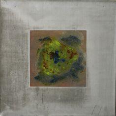Blei 2 - Bleibild von Ute Latzke, Mixed Media: Blei, Acryl, MDF-Platte. #blei #lead #art #mixedmedia #graphic