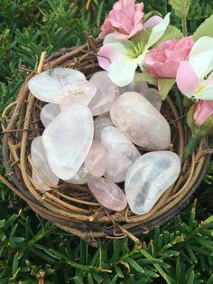 Rose Quartz Tumbled Stones, Healing Stones, For Love, self love, self esteem
