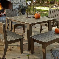 Outdoor Uwharrie Hourglass 48-in. Square Patio Dining Table