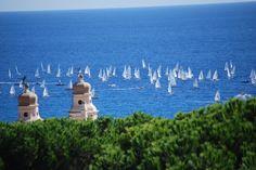 white sails on the sea from  #residencesantanna   #pietraligure  #liguria #riviera
