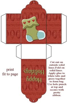 Tag Style Box - (There are tons of different templates on this site! Christmas Paper Crafts, Christmas Gift Box, Papier Diy, Boxes And Bows, Printable Box, Box Patterns, Miniature Christmas, Paper Toys, Christmas Printables