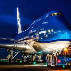 The Blue Queen of the skies  #KLM  #B747