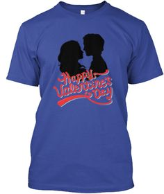 Valentines Day T Shirts For Couples Deep Royal T-Shirt Front