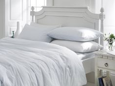 Double Bed Size Blue Striped 100% Cotton Duvet Cover Set - Pimlico Helena Springfield http://www.amazon.co.uk/dp/B00BN5AUBU/ref=cm_sw_r_pi_dp_dPznub1S80CJ5