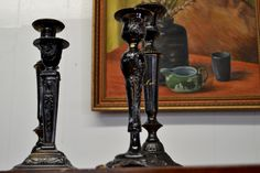 Antique candlesticks. Available at Vintage in Cumming, GA. Visit our Pinterest page for the latest from Vintage!