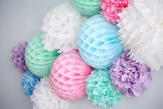 24 cm / 10' Hand made tissue paper HONEYCOMB BALLS /party /birthday /wedding / decoration/ 11 colors