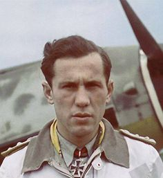 Oberstleutnant Kurt Bühligen .He shot down some 112 enemy aircraft in over 700 operations, becoming the fourth highest Luftwaffe scorer against the Western Allies. All his victories were claimed over the Western Front and North Africa and included 47 Spitfires and 46 United States Army Air Forces (USAAF) victims; 13 P-38, 9 P-47, 7 US operated Spitfires and 24 four-engine bombers. He was never shot down but had to make emergency landings on 3 occasions.