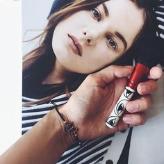 #Red #MAC #Makeup Brush. Butterfly Bracelet available at www.me-dilara.com - Store