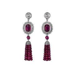 Cartier High Jewelry earrings Earrings - platinum, and Red Jewelry, Tassel Jewelry, Art Deco Jewelry, High Jewelry, Luxury Jewelry, Bling Jewelry, Gemstone Jewelry, Jewelery, Jewelry Accessories