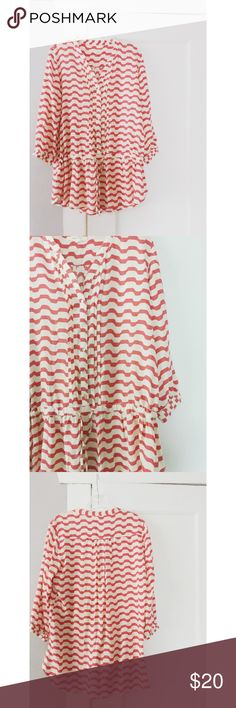 """Anthropologie """"Isabella Sinclair"""" Tunic Anthropologie """"Isabella Sinclair"""" brand Tunic top.  PINK/coral & ivory/white pattern.  Great condition.  Women's size small. Anthropologie Tops Tunics"""