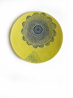 wall ceramic plate www.etsy.com/de/shop/ceralonata