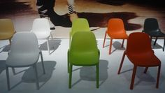 Philippe Starck Creates Chair From Industrial Waste - DesignTAXI.com. Chair is made from 90% pre-consumer waste and will be available in plenty of fun colors to jazz up your eco vibe.