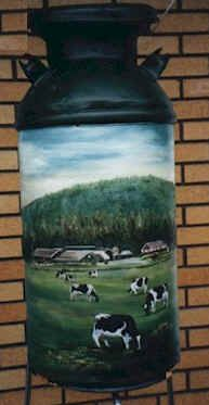 Milk Can With Cows