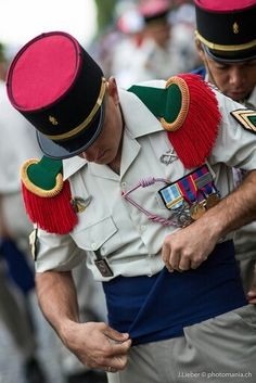 Légionnaire in prepared