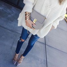 Jeans skinny rasgada