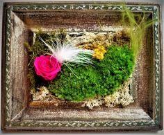 cadre vintage Rose Stabilisée, Decoration, Etsy, Plants, Vintage, Gardens, Frames, Handmade Gifts, Board