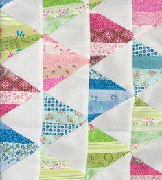 Fresh, modern string quilt