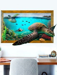 3D Ocean Sea Turtle Animal Removable Wall Sticker