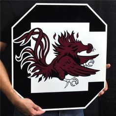 big sale 38349 e51c0 Authentic Street Signs 95408 24 in. South Carolina Gamecock 2 Steel Logo