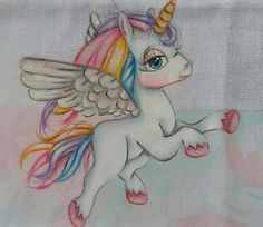 Preciosa Unicorn Fantasy, Fantasy Art, Rainbow Unicorn, Unicorn Party, Magical Monster, Unicorn Tattoos, Unicorn And Glitter, Kids Patterns, Art Journal Inspiration