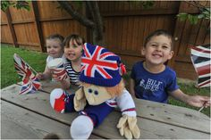 Children at Young Tots Nursery in Lincoln celebrating the Diamond Jubilee