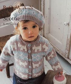 The   Vintage   Pattern   Files: 1950's Knitting - Scottie Dog Childs Jacket & Bere...