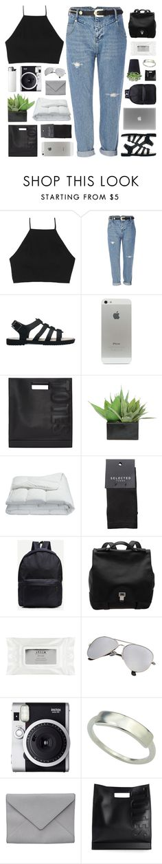 """""""PUT YOUR FLOWERS DOWN ♡"""" by feels-like-snow-in-september ❤ liked on Polyvore featuring rag & bone, River Island, Melissa, 3.1 Phillip Lim, Lux-Art Silks, Frette, SELECTED, Proenza Schouler, Stila and Fuji"""