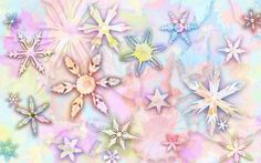 Let It Snow - Pastel Vintage Snowflakes Abstract