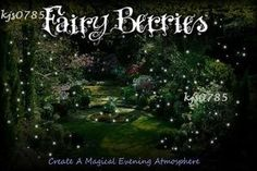 Gorgeous Fairy Berries, currently for sale on Ebay, $18 a packet of 12, $10 express postage for as many as you would like!