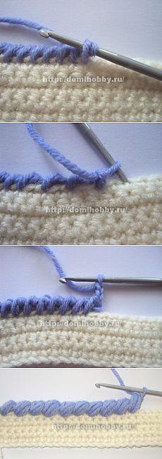 """""""Рачий шаг"""" - способы вязания"""
