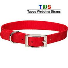dog collar in shiny red are available at us.  For more details click on the below link or call us on +9833884973/9323558399  http://tapeswebbingstraps.in/  Courtsey : Tapes Webbing strap
