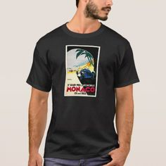 Monaco Grand Prix Car Race Travel Art T-Shirt - tap to personalize and get yours New Warriors, Monaco Grand Prix, Tee Shirts, Tees, Halloween Outfits, Tshirt Colors, Shirt Style, Long Sleeve Shirts, Shirt Designs