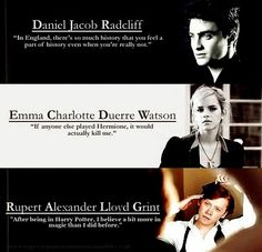 Daniel Radcliff, Emma Watson, and Rupert Grint were all excellent in Harry Potter! It would kill me if anyone else played Hermione too. Harry Potter Film, Harry Potter Quotes, Harry Potter Love, Harry Potter World, Daniel Radcliffe, Must Be A Weasley, Plus Tv, My Champion, Mischief Managed
