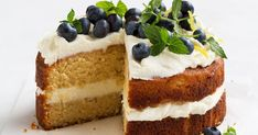 GF Lemon Cake with Whipped Ricotta. This light and luscious lemon yoghurt cake is gluten-free, zesty and delicious. Gluten Free Icing, Gluten Free Lemon Cake, Gluten Free Cakes, Gluten Free Desserts, Cereal Recipes, Baking Recipes, Cake Recipes, Pastry And Bakery, Healthy Cake
