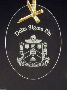 Delta Sigma Phi, ΔΣΦ, Beveled Oval Crystal Ornament/Sun Catcher #McCartney