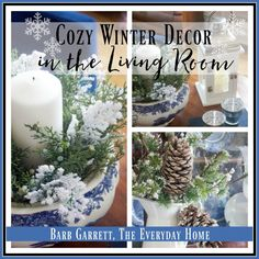 Cozy Winter Decor Ideas in the Living Room | The Everyday Home | www.everydayhomeblog.com