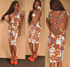 Chic!   Elegant / Charming  Tailored African  Dress.Perfect!