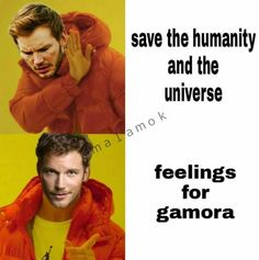 drake meme chris pratt star lord peter quill feelings for gamora