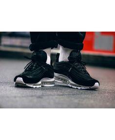 best sneakers 8e72b 6bfcd Nike Air Max 97 Black Black White For Sale