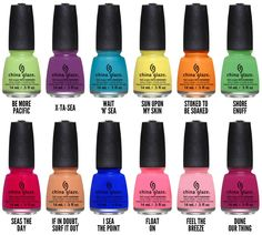 China Glaze Summer 2014 Off Shore Collection