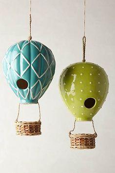 Air Balloon Birdhouses. So Cute!!