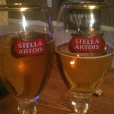 Stella in a genuine Stella glass!