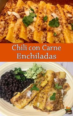 Chili con Carne Enchiladas recipe