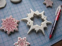 Salt Dough Ornamnets - Another craft, I'd love to do with my kids one day.  I remember making ornaments with my own mom one year.