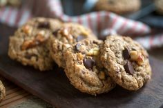 The $250 Cookie Recipe-Neiman Marcus came up with a recipe. It's a delicious variation on oatmeal chocolate chip cookies, using ground oatmeal, nuts and adding extra chocolate