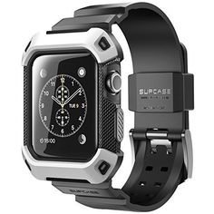 WHITE-BLACK-SPORT-Wristband-Band-Strap-CASE-Cover-For-iWatch-42MM-APPLE-WATCH-1