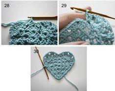 How to Crochet a Granny Heart - Tutorial ❥Teresa Restegui http://www.pinterest.com/teretegui/❥