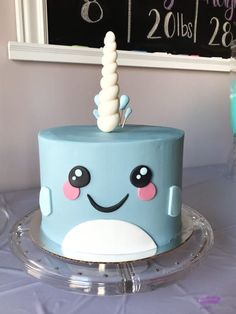 Mystical sea creatures and glitter lovers rejoice! Adorable Narwhal Birthday Party Ideas and supplies for a gorgeous party! 12th Birthday Cake, First Birthday Parties, Birthday Party Decorations, First Birthdays, Birthday Ideas, Girl Birthday Cakes, Geek Birthday, Fun Cupcakes, Mermaid Birthday